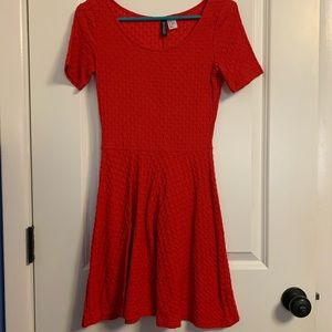 H&M Red Skater Dress
